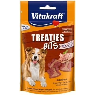 Лакомства за кучета Vitakraft TREATIES BITS, сочни хапки с лебервурст, 120гр