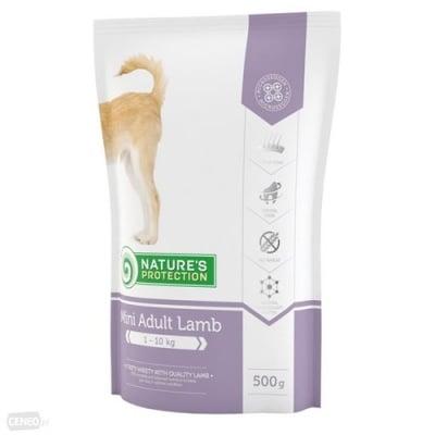 nature's protection Mini Adult Lamb - пълноценна храна за израстналите кучета от малките породи (1-10 кг) с агнешко