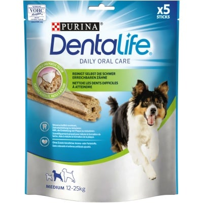 Лакомсво за кучета от средни породи за устна хигиена PURINA DENTALIFE Sticks , 115гр