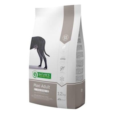 Храна за израстнали кучета от големите породи (всички породи над 25 кг) Nature's Protection Maxi Adult, с пилешко месо, 100ГР НАСИПНО