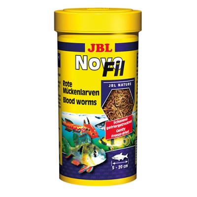 JBL NOVOFIL - Вакумирани и замразени изсушени ларви на червени комари, 100 мл.