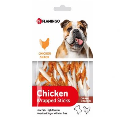 Лакомство за куче Chick'n Snack - солети обвити с пилешко месо от Karlie, 65гр