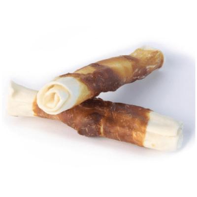 Лакомство за куче Magnum пръчки от телешка кожа обвита в патешко месо, 2 броя