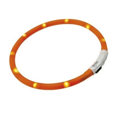 Светещ нашийник за кучета Night Over Collar - водоустойчив и много здрав с USB - два размера