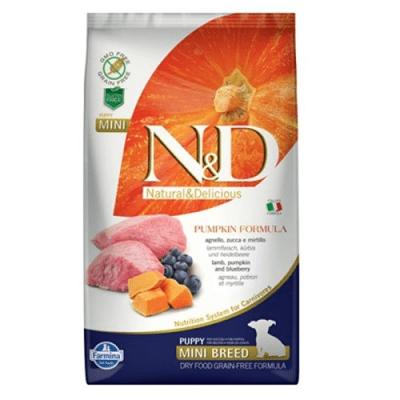 """""""N&D PUPPY MINI PUMPKIN"""" - Храна за  подрастващи кученца с агнешко месо"""