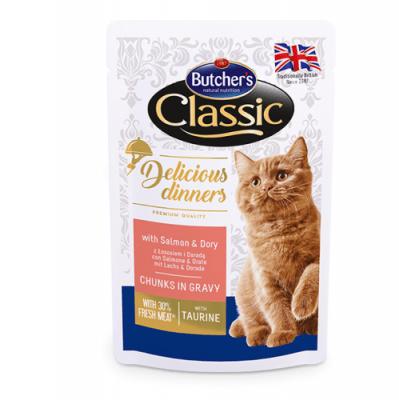 Пауч за коте Butcher's Delicious Dinners 100гр - различни вкусове