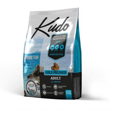 Kudo Adult Adriatic Fish храна за кучета с дива риба от Адриатическо море за всички породи над 12 месеца - две разфасовки