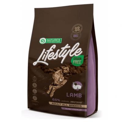 Пълноценна храна за кучета от всички породи Natures protection Lifestyle, с агнешко месо,без зърнени добавки, 1.50кг, 10.00кг