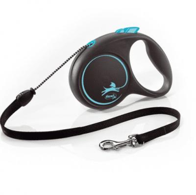 Автоматичен повод за куче Flexi Black Design, 3 метра въже за кучета до 8кг, различни цветове