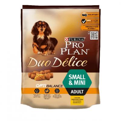 Храна за куче хрупкави гранули и фино нарязани месни късчета ProPlan® DuoDelice, за кучета от дребни породи, с пилешко месо, 2,5кг