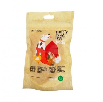 Лакомство за куче Croci HAPPY FARM, пиле и сладки картофи, 80гр