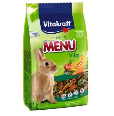 Храна за декоративни мини зайци Vitakraft Premium Menu Vital, три разфасовки