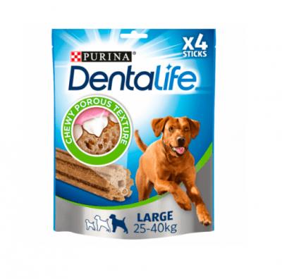 Лакомсво за добра устна хигиена за кучета от едри породи PURINA DENTALIFE Sticks , 142g