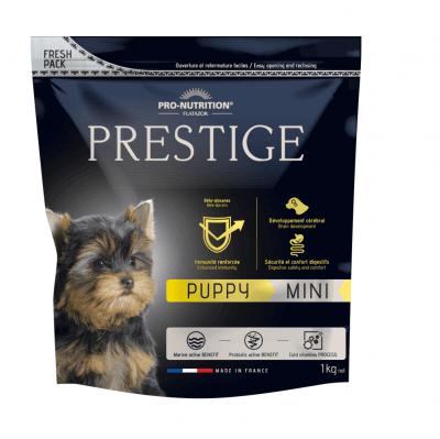 Храна за подрастващи кученца от дребни породи, както и за женски кучета от дребни породи в края на бременността или през периода на кърмене Flatazor PRESTIGE PUPPY MINI, две разфасовки