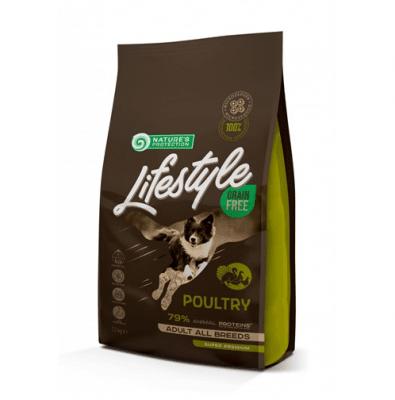 Пълноценна храна за израстнали кучета Nature`s Protection Grain Free Adult Poultry , без зърно, с домашни птици, 100ГР НАСИПНО