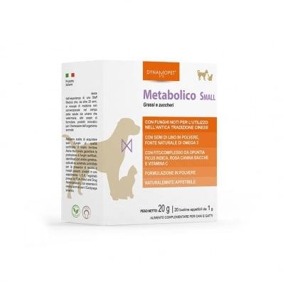 Допълваща храна, предназначена да помогне на котките и кучета от дребни породи да поддържат физиологичните метаболитни условия по оптимален начин Dynamopet Metabolico Small, 20брх1гр