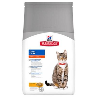 """""""Hill`s Science Plan Feline Adult OralCare"""" - Пълноценна храна с пилешко за котки над 1 година за подобряване на устната хигиена"""