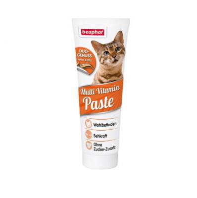 Beaphar мултивитаминна паста за коте 100гр - предотвратява кожни проблеми и осигурява прекрасна козина