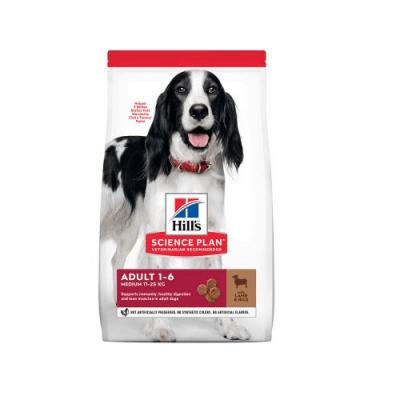 Hills Science Plan Adult Medium с агне и ориз - За кучета от средни породи до 25 кг с умерени енергийни нужди, от 1 до 7 години