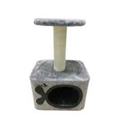 Драскало за коте Cave - сглобяемо - размери 35 х 27 х 55 см - два цвята