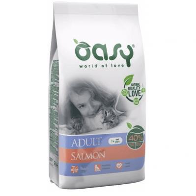 Храна за котка Oasy Cat Adult Salmon със сьомга - 1,50кг; 7,5кг