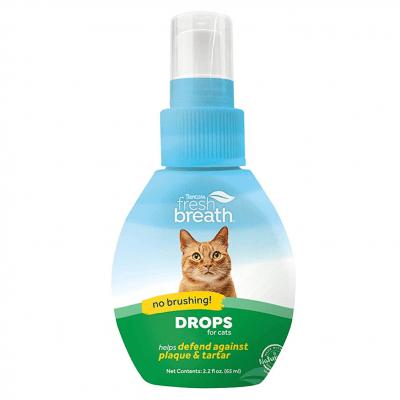 Добавка за вода за подобряване дъха на котката Tropiclean DROPS for CAT, 65мл