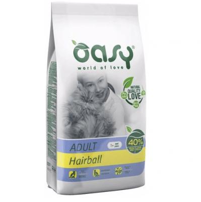 Храна за котка Oasy Cat Adult Hairball срещу космени топки в стомаха, 1.5 кг