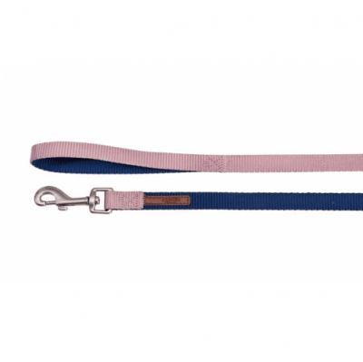 Повод за куче DOUBLEPREMIUM BLUE/PINK, различни размери