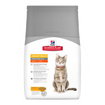 """""""Hill`s Science Plan Feline Adult Urinary & Sterilised Cat"""" - Пълноценна храна с пилешко за кастрирани котки в зряла възраст от 1 до 6 години"""