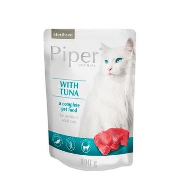 Пауч за кастрирани котки PIPER STERILIZED, 100 гр - БЕЗ зърно