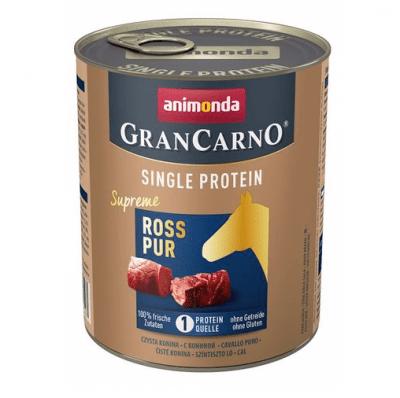 Консервирана храна за куче Animonda GranCarno SP Supreme Pure Horse, с един източник на протеин, с конско месо, 800гр