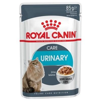 Royal Canin Urinary Care - Самостоятелна храна за израснали котки, крехки късчета в сос, подпомага здравето на пикочните пътища, способства за запазване на идеалното тегло 85гр