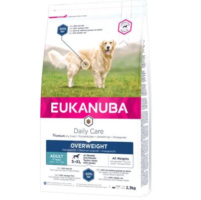 Храна за израснали кучета от всички породи с наднормено тегло или ниска физическа активност Eukanuba Daily Care Overweight, 2.30кг