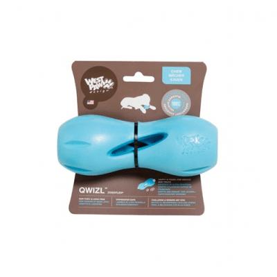 Интерактивна играчка West Paw Qwizl - възможност за поставяне на лакомства