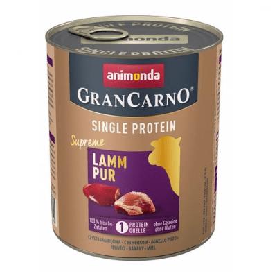 Консервирана храна за куче GranCarno SP Supreme Pure с един източник на протеин, с агнешко месо, 800гр