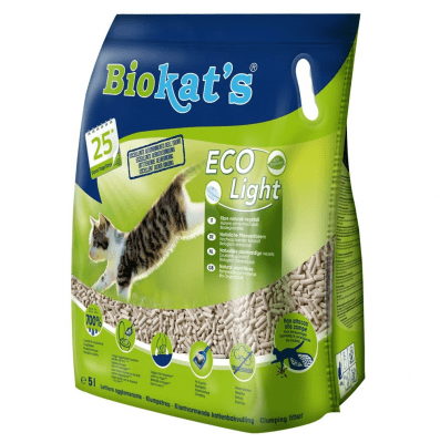 Екологична котешка тоалетна Biokat's ECO Light, 2.90кг