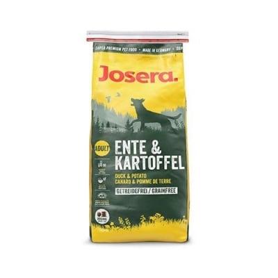 Josera DUCK & POTATO - Пълноценна храна за израснали кучета със здравословна формула, без зърнени храни и специално подходяща за чувствителни кучета - 0.900кг; 15.00кг