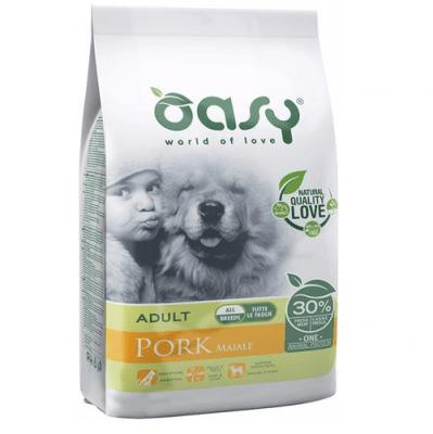 Храна за кучета Oasy Pork Monoprotein Adult със свинско за всички породи над 12 месеца, 12кг