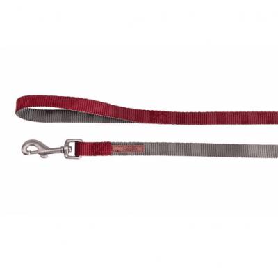 Повод за куче DOUBLEPREMIUM GREY/RED, различни размери