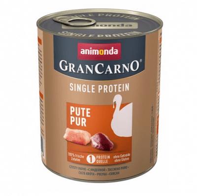 Консервирана храна за куче Animonda GranCarno SP Supreme Pure с един източник на протеин, с пуешко месо, 400гр