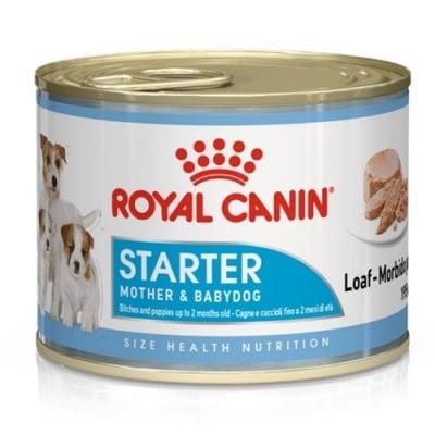 Royal Canin Starter Mousse Mother & Babydog - храна за бременни и кърмещи кучки и за кученца от периода на отбиване до 2-рия месеца - 195гр