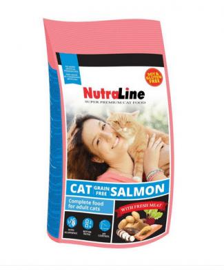 """""""Nutraline Cat Grain Free Salmon"""" - Храна за котки с месо от сьомга и без зърнени култури"""