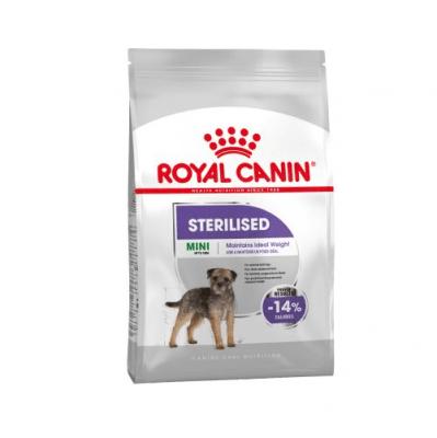 Royal Canin Mini Sterilised Adult - Пълноценна храна за кучета - За кастрирани зрели кучета от дребните породи, склонни към напълняване