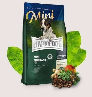 Храна за кучета от малки породи Happy Dog Supreme Mini Montana конско месо и картофи - 1.00кг; 4.00кг
