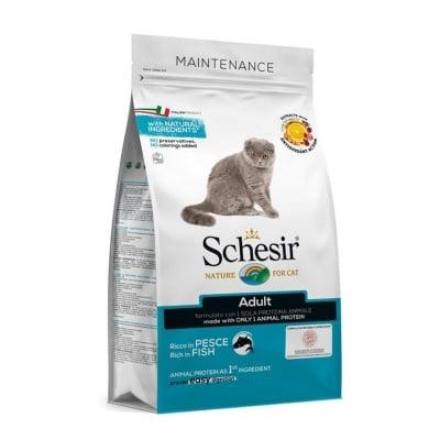 Храна за котки Schesir Cat Adult Maintenance Fish с риба, три разфасовки