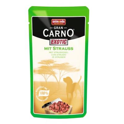 Пауч за куче 100 % месо с ексотичен вкус - Gran Carno Exotic, 125гр