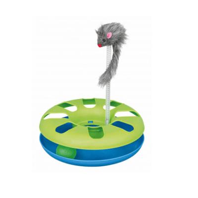 Интерактивна играчка за коте Crazy Circle с плюшена мишка - 24 см
