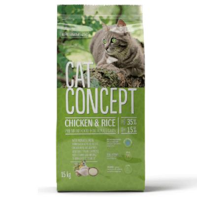 Храна за котки Cat Concept, с пилешко месо, 15.00кг