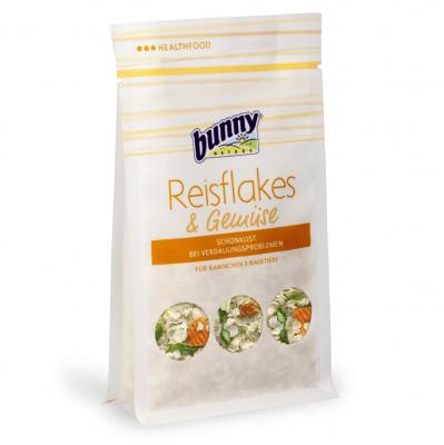 Първа помощ при хранително обусловени стомашни проблеми на гризачи Bunny Rice flakes and vegetables, 80гр