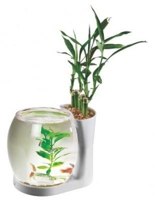 """""""BOL NATURE WORLD NW03 WHITE"""" - Малък аквариум за рибки"""